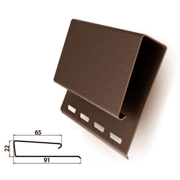 Наличник широкий коричневый для сайдинга