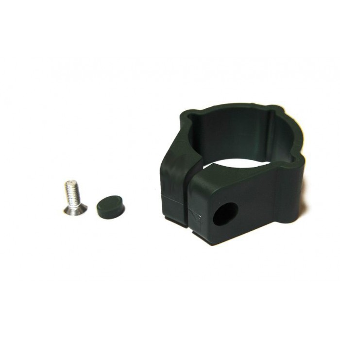 Крепление круглое пластиковое для панельного забора