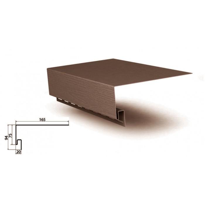 Планка оконная коричневаяприменяется для отделки сайдингом