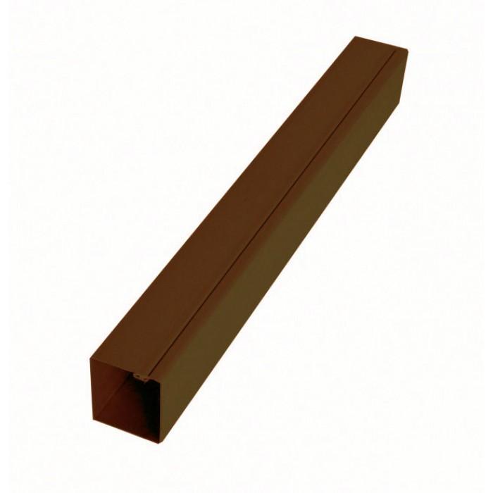 Столб коричневый для модульного забора