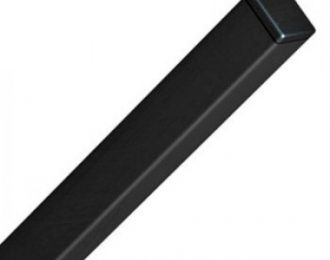 Столб для панельного забора чёрный
