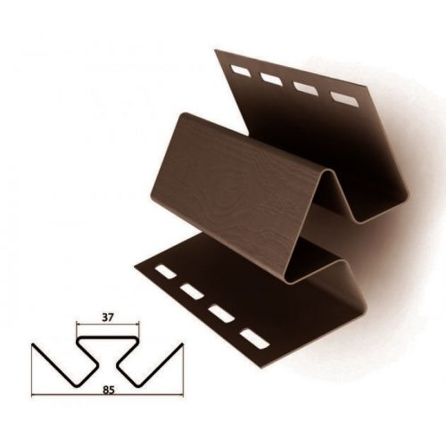 Уголок внутренний коричневыйдля отделки сайдингом