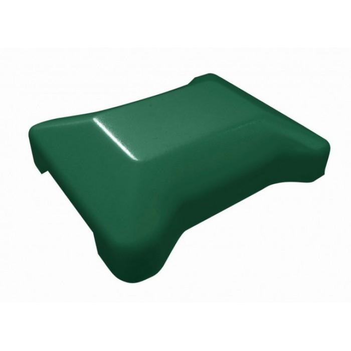 Крышка универсальная зелёная для модульного забора