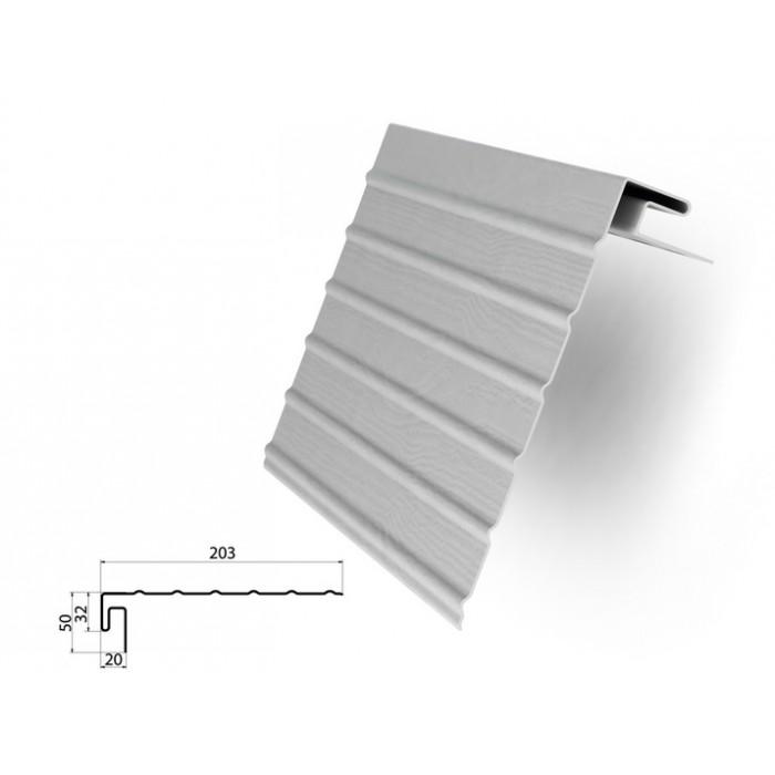 Фаска J белая для отделки сайдингом