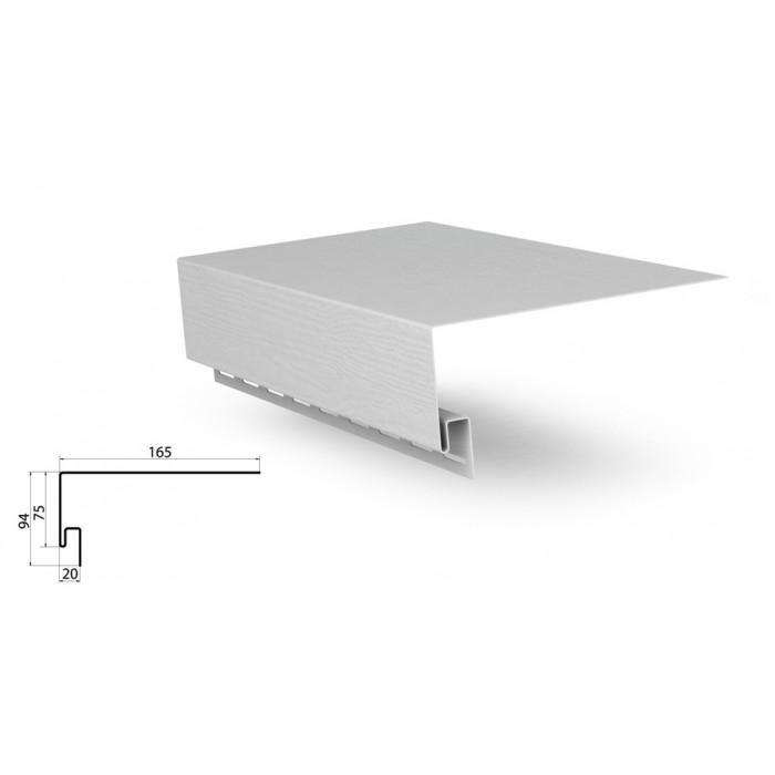 Планка оконная белая применяется для отделки сайдингом