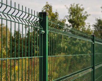 Панель для забора зеленая
