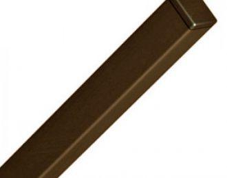 Столб для панельного забора коричневый