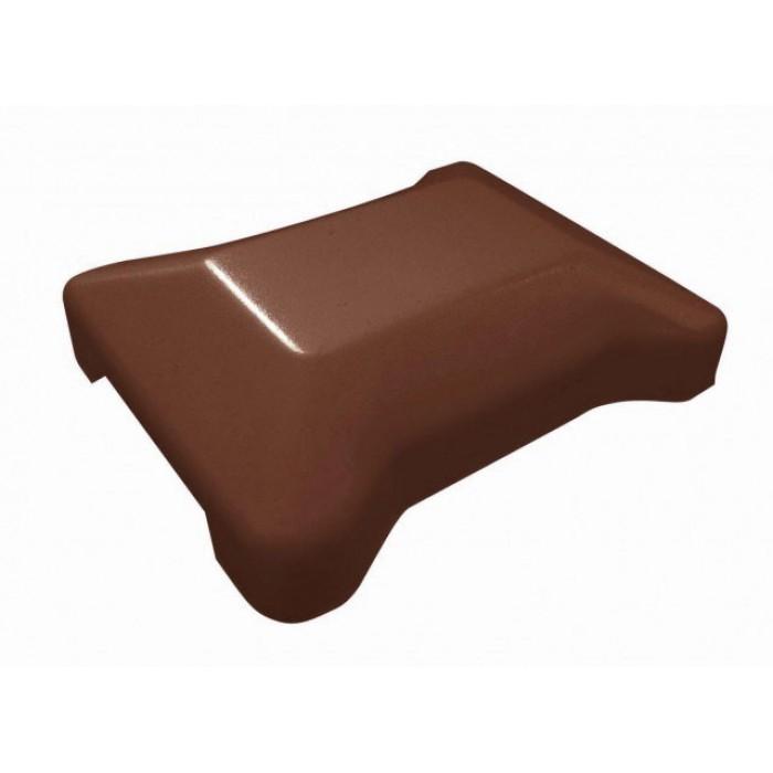 Крышка универсальная коричневаядля модульного забора
