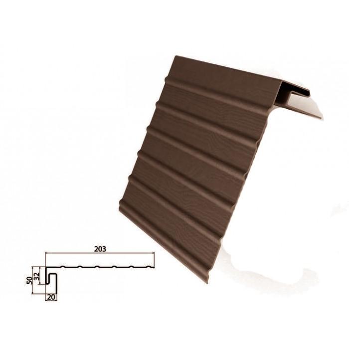 Фаска J коричневая для отделки сайдингом